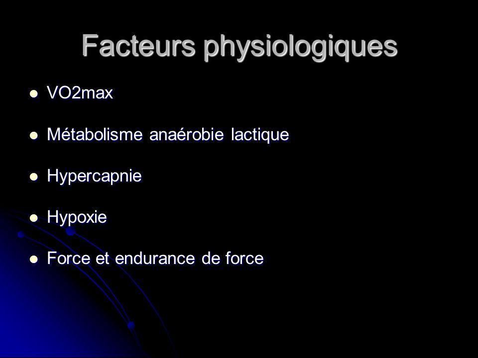 Facteurs physiologiques