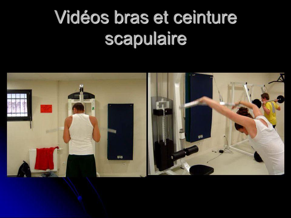 Vidéos bras et ceinture scapulaire