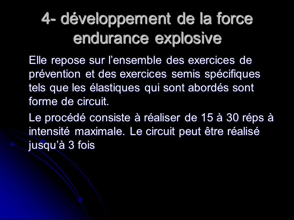 4- développement de la force endurance explosive
