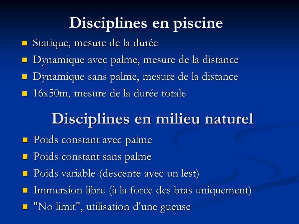 Disciplines en milieu naturel