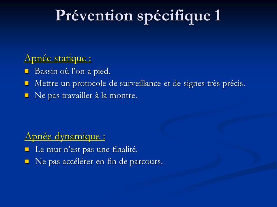Prévention spécifique 1