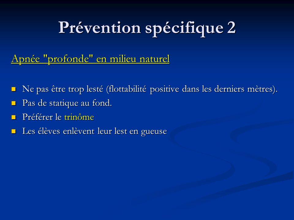 Prévention spécifique 2