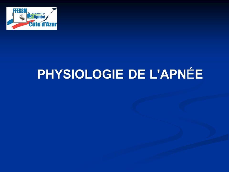 PHYSIOLOGIE DE L APNÉE