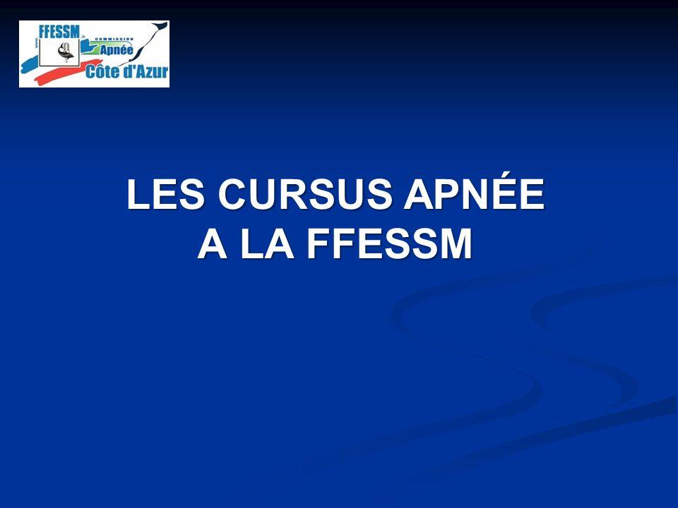 LES CURSUS APNÉE A LA FFESSM