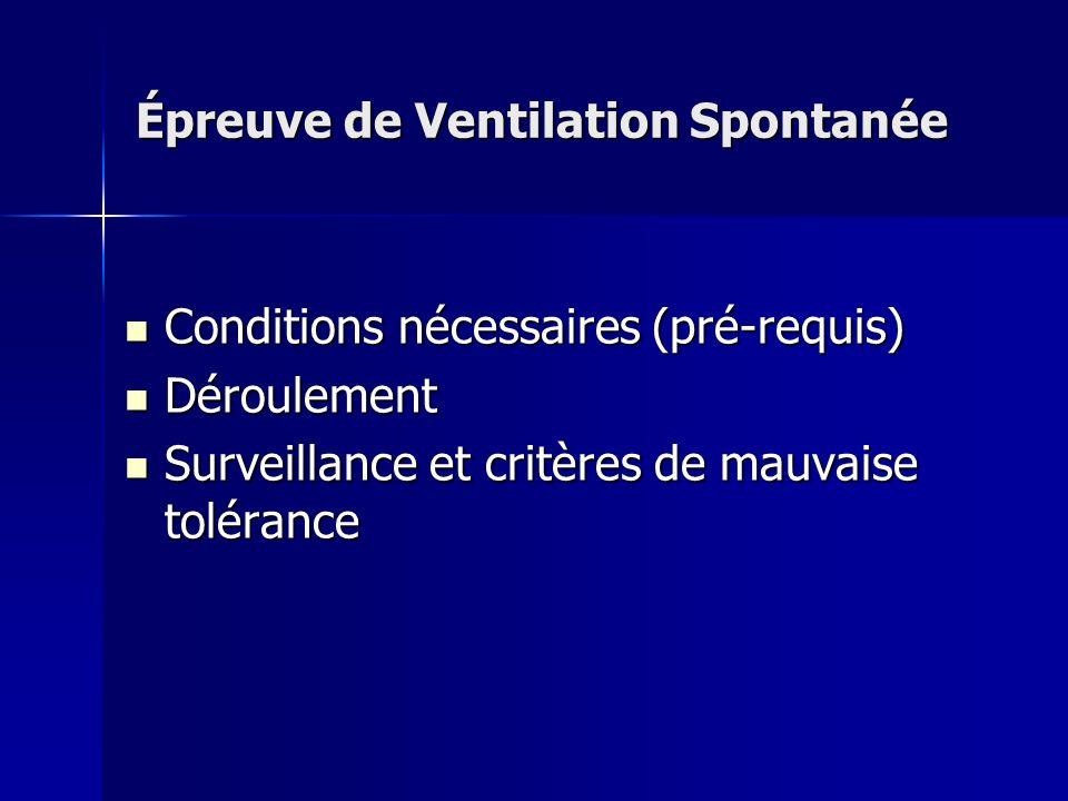 Épreuve de Ventilation Spontanée