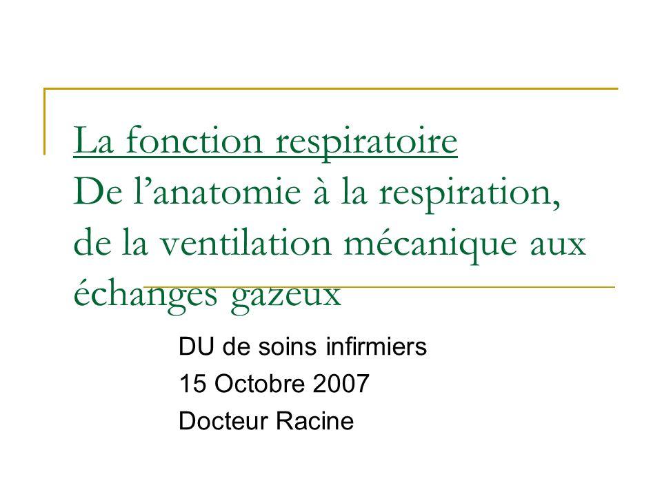 DU de soins infirmiers 15 Octobre 2007 Docteur Racine