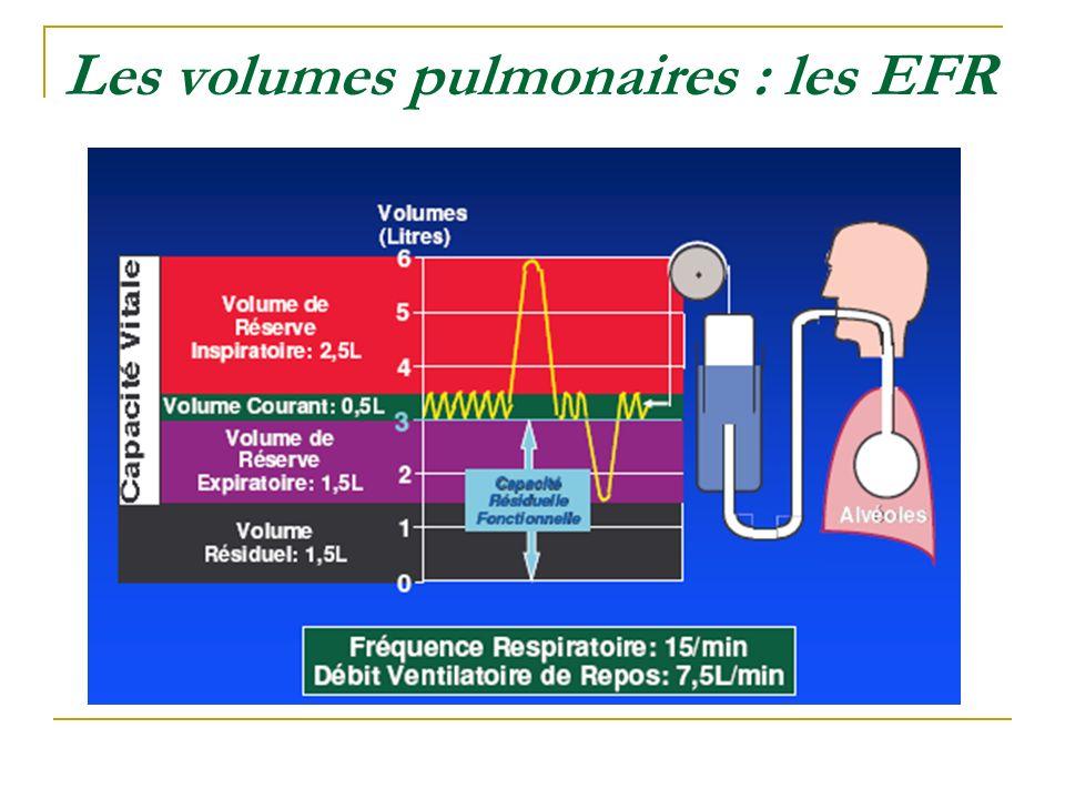 Les volumes pulmonaires : les EFR