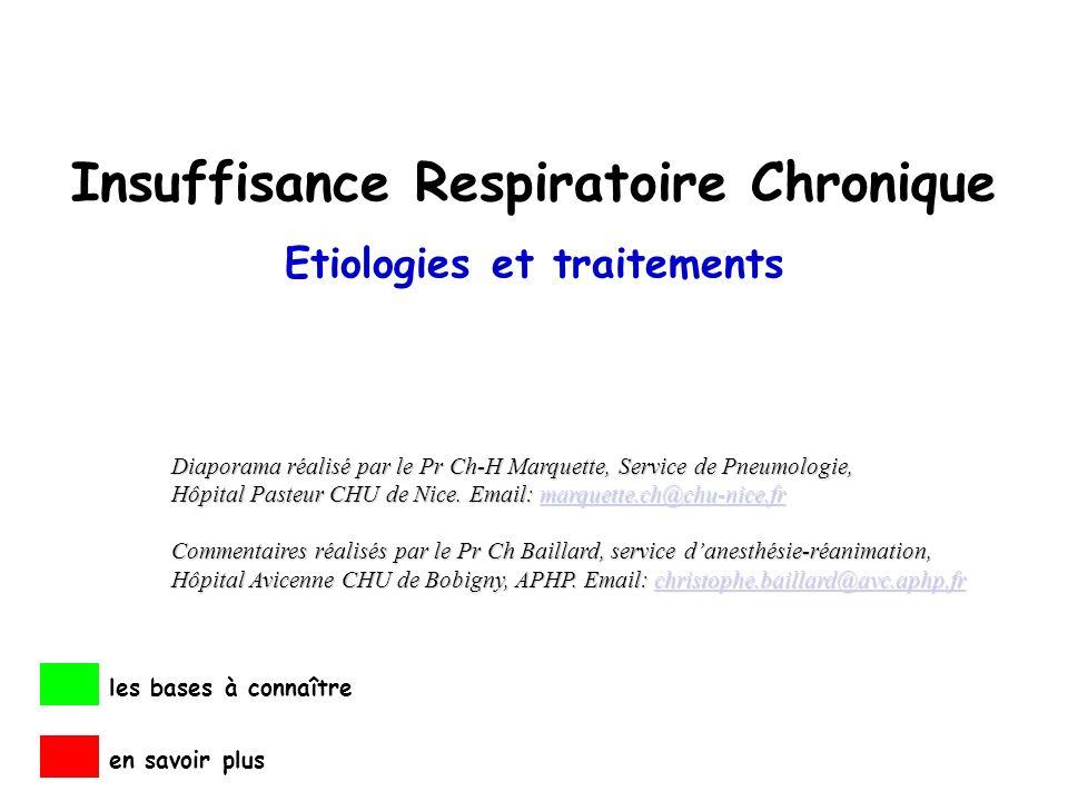 Insuffisance Respiratoire Chronique Etiologies et traitements