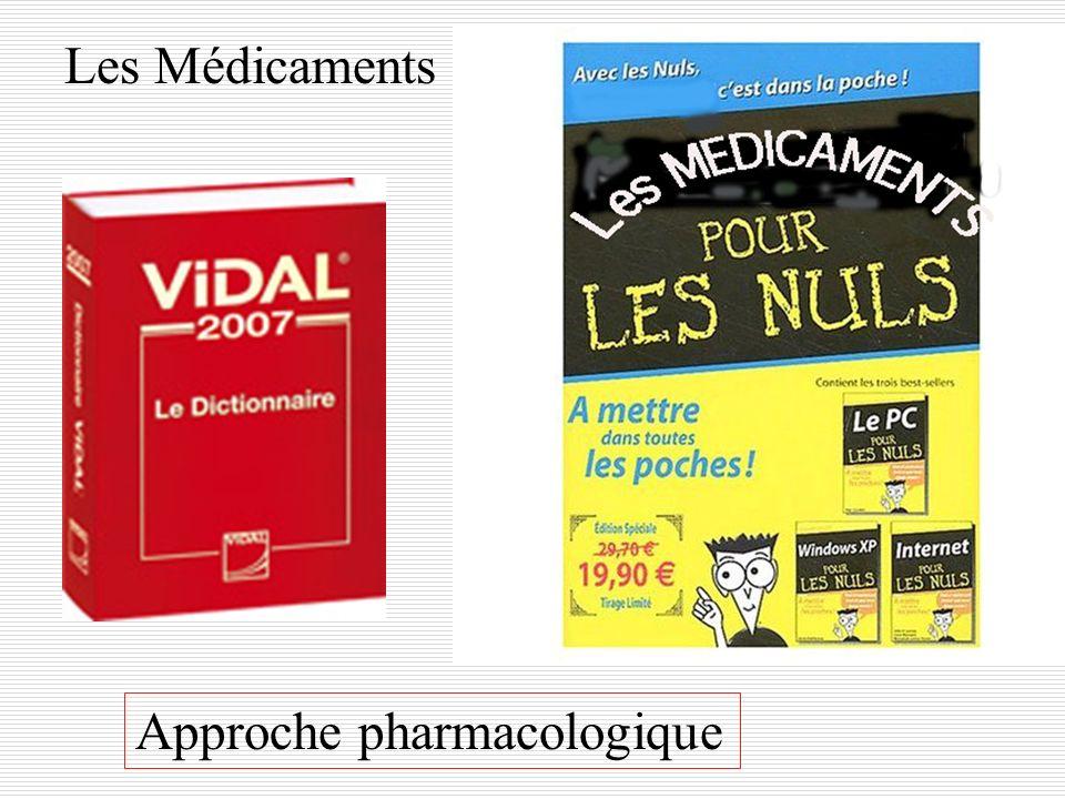 Les Médicaments Approche pharmacologique