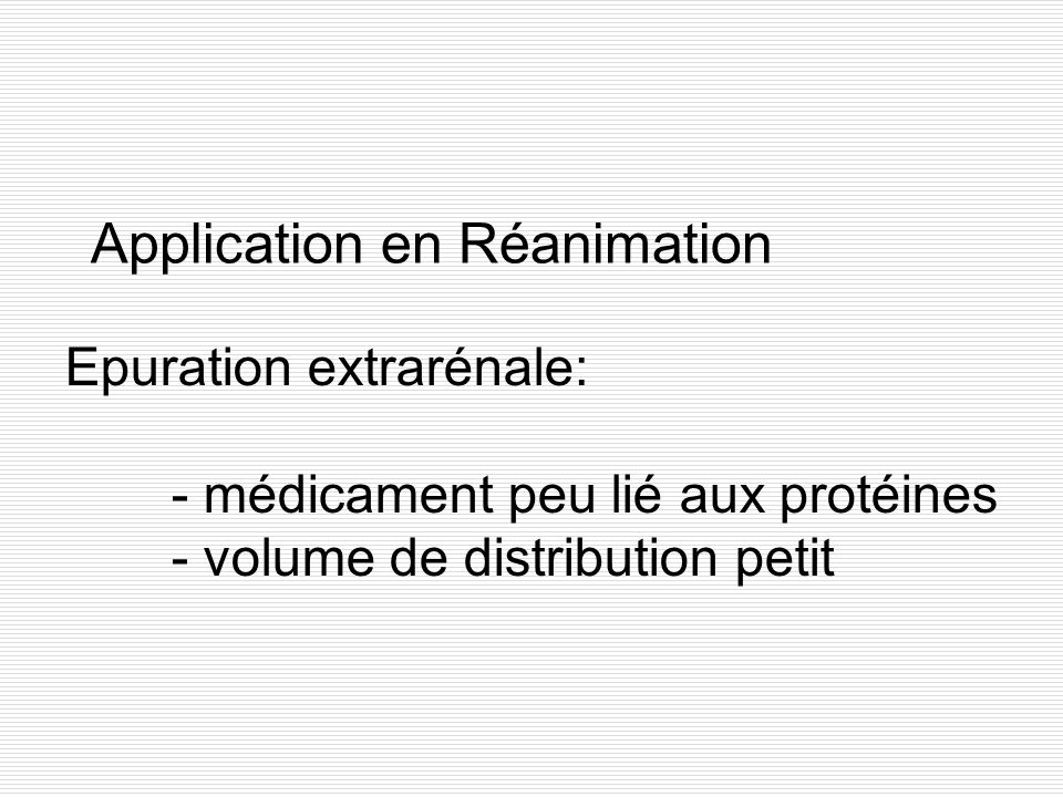 Application en Réanimation