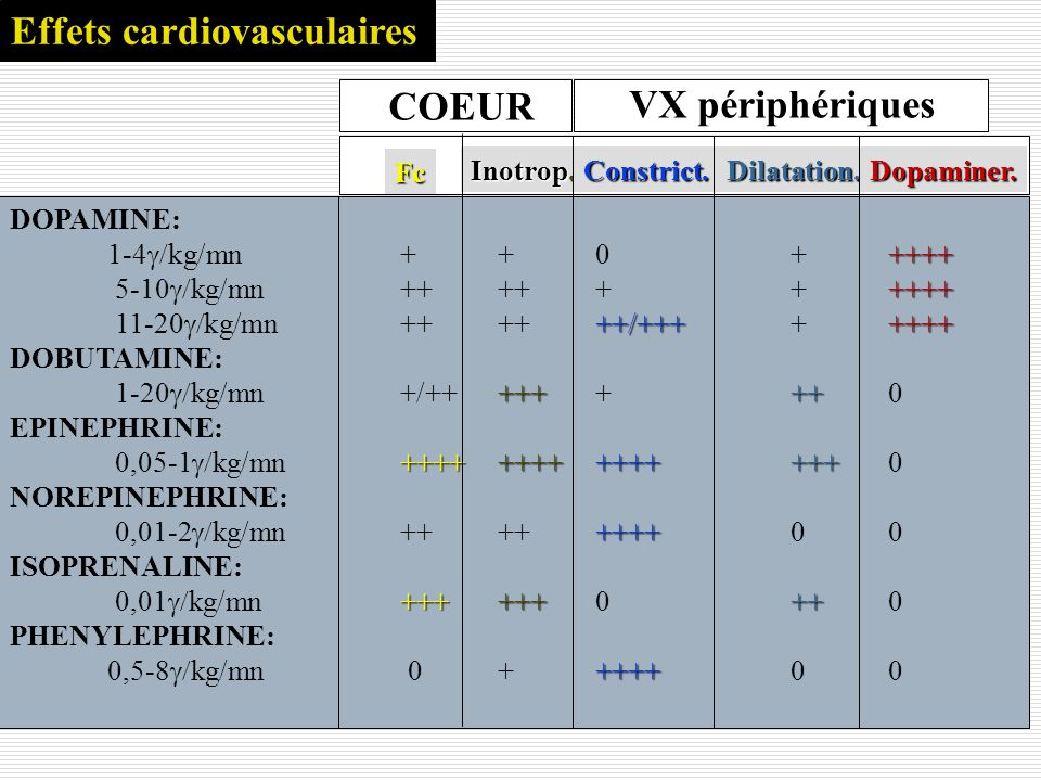 Effets cardiovasculaires