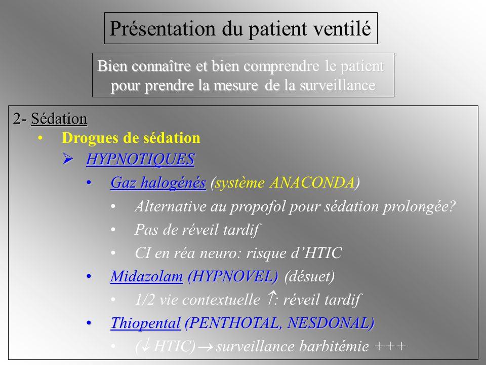 Présentation du patient ventilé