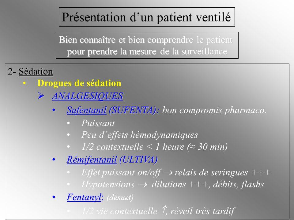 Présentation d'un patient ventilé