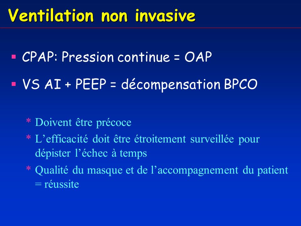 Ventilation non invasive