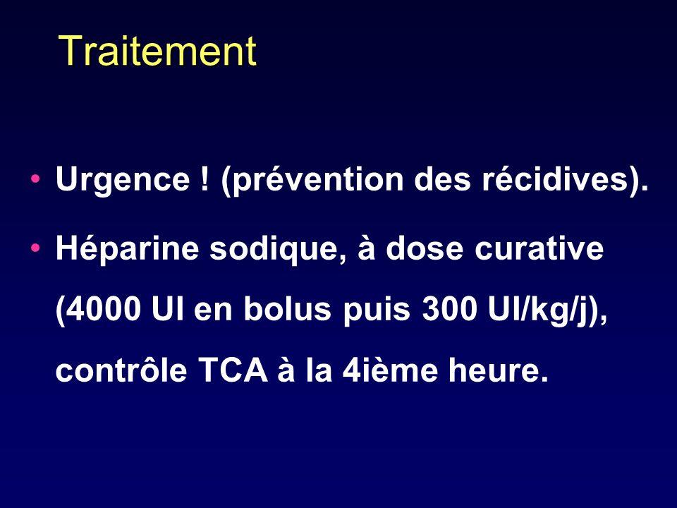 Traitement Urgence ! (prévention des récidives).