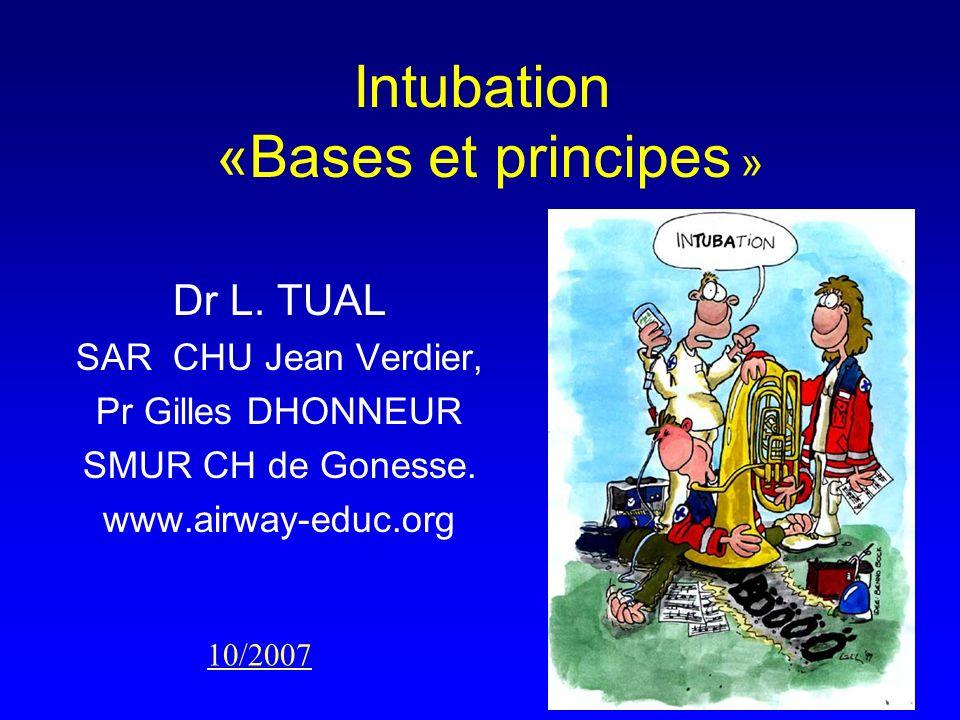 Intubation «Bases et principes »