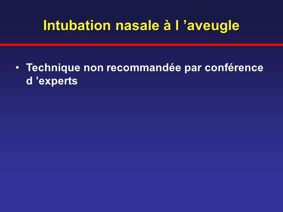Intubation nasale à l 'aveugle