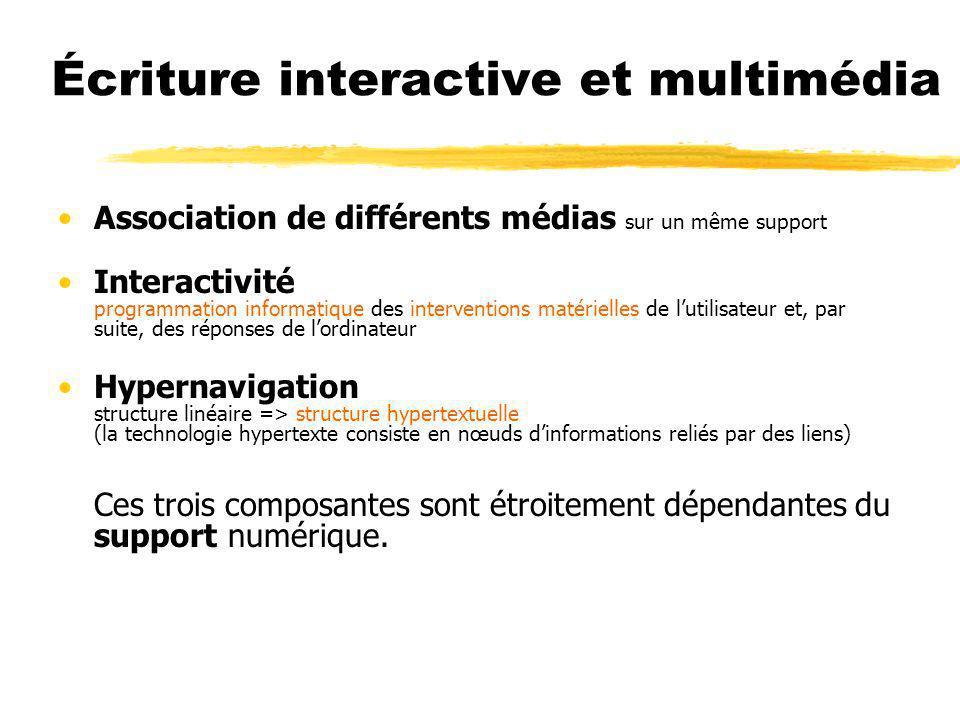 Écriture interactive et multimédia
