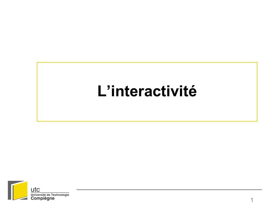 L'interactivité