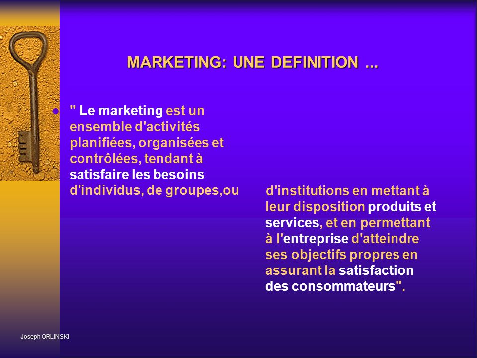 MARKETING: UNE DEFINITION ...