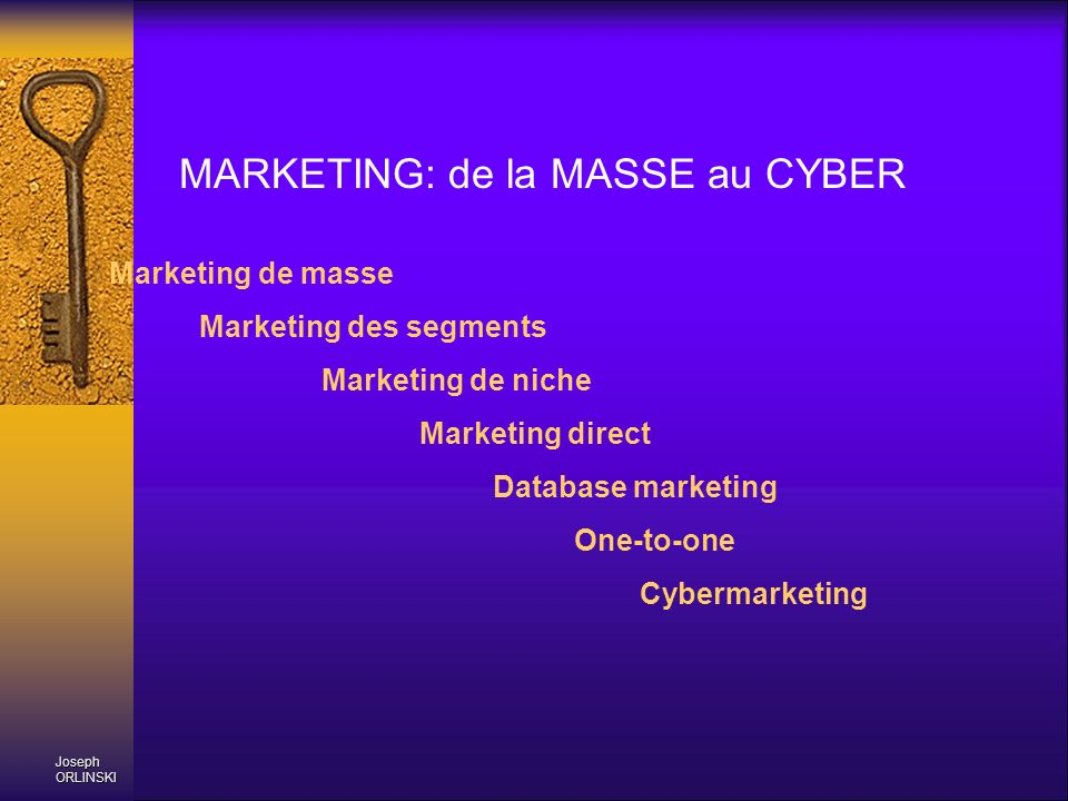 MARKETING: de la MASSE au CYBER