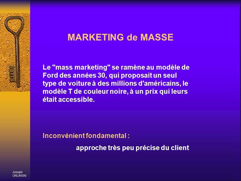 MARKETING de MASSE