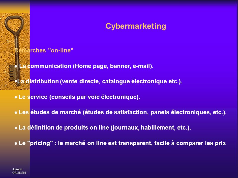 Cybermarketing Démarches on-line