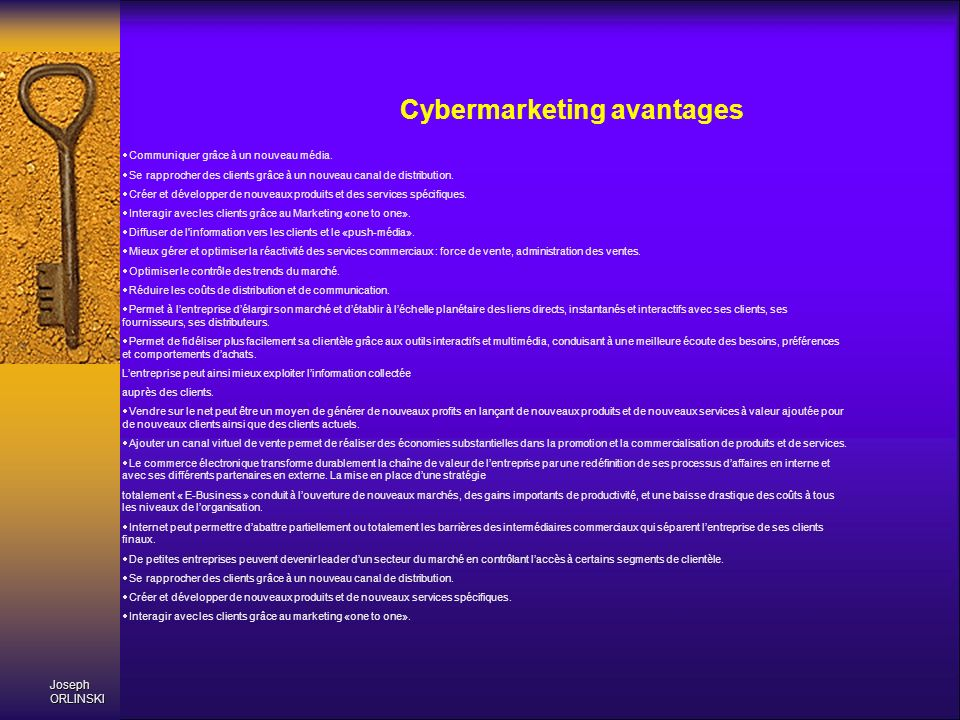 Cybermarketing avantages