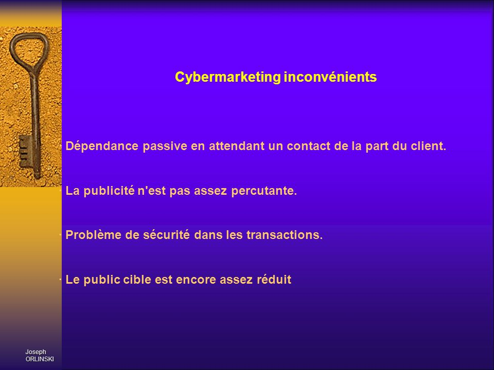 Cybermarketing inconvénients