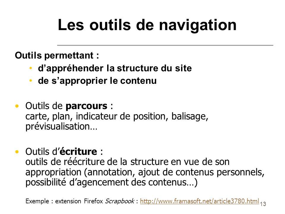 Les outils de navigation