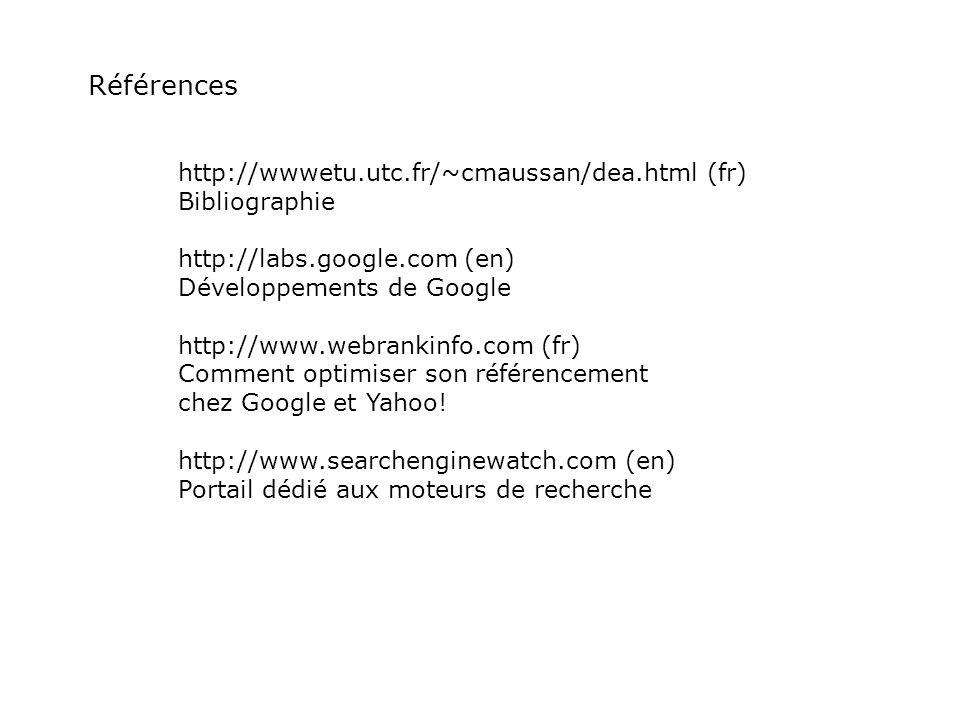 Références http://wwwetu.utc.fr/~cmaussan/dea.html (fr) Bibliographie