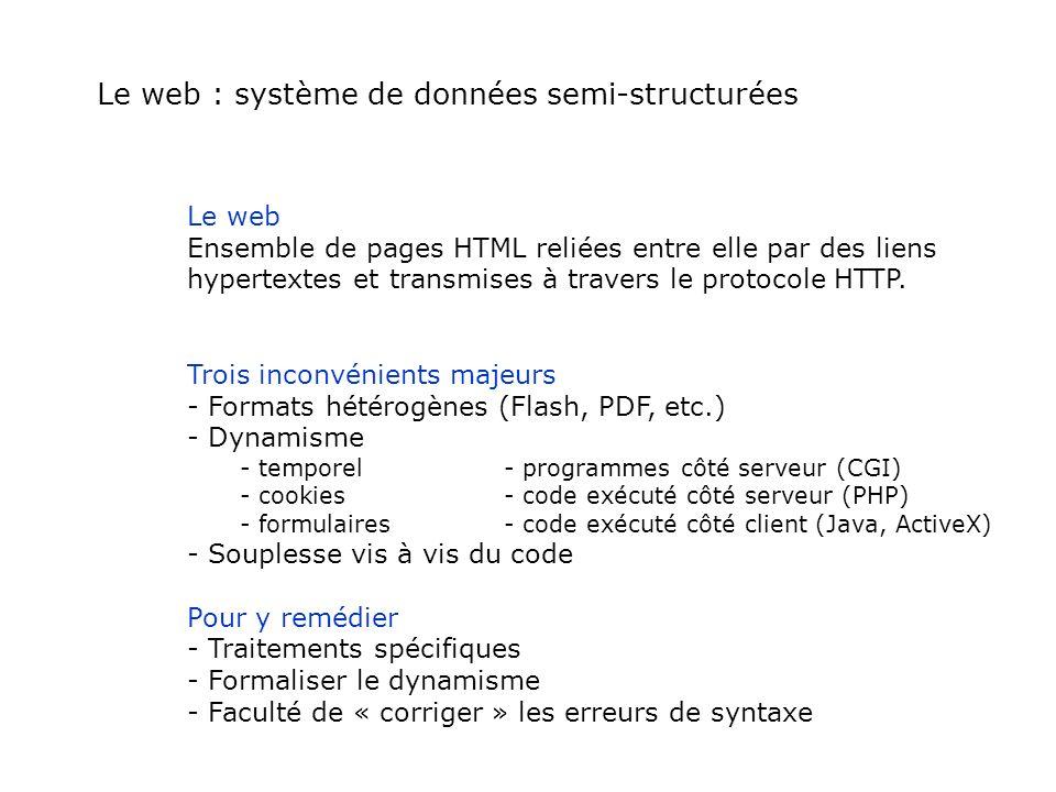 Le web : système de données semi-structurées