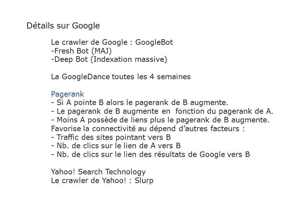Détails sur Google Le crawler de Google : GoogleBot Fresh Bot (MAJ)