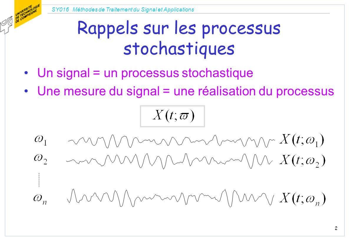 Rappels sur les processus stochastiques