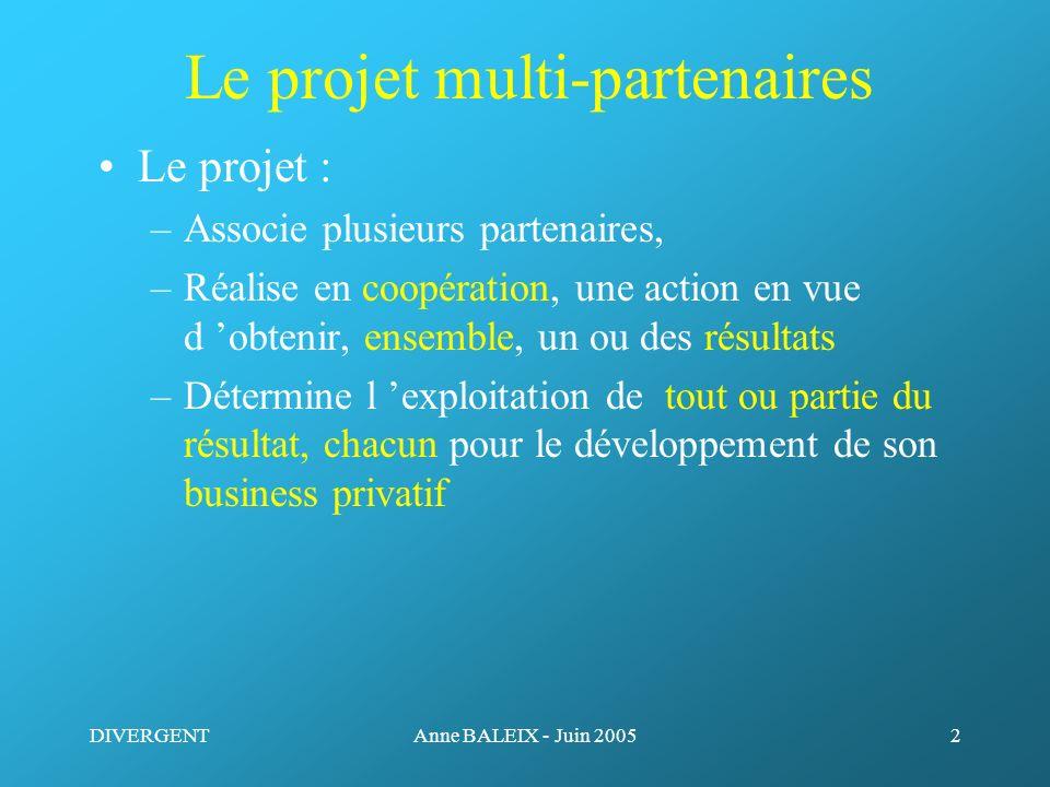 Le projet multi-partenaires