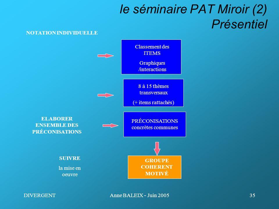 le séminaire PAT Miroir (2) Présentiel