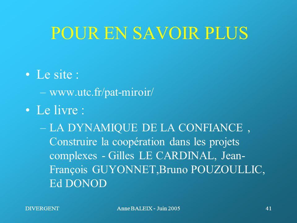 POUR EN SAVOIR PLUS Le site : Le livre : www.utc.fr/pat-miroir/