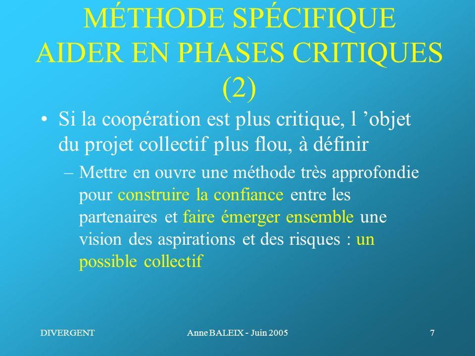 MÉTHODE SPÉCIFIQUE AIDER EN PHASES CRITIQUES (2)