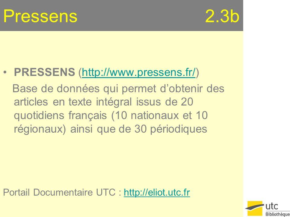 Pressens 2.3b PRESSENS (http://www.pressens.fr/)