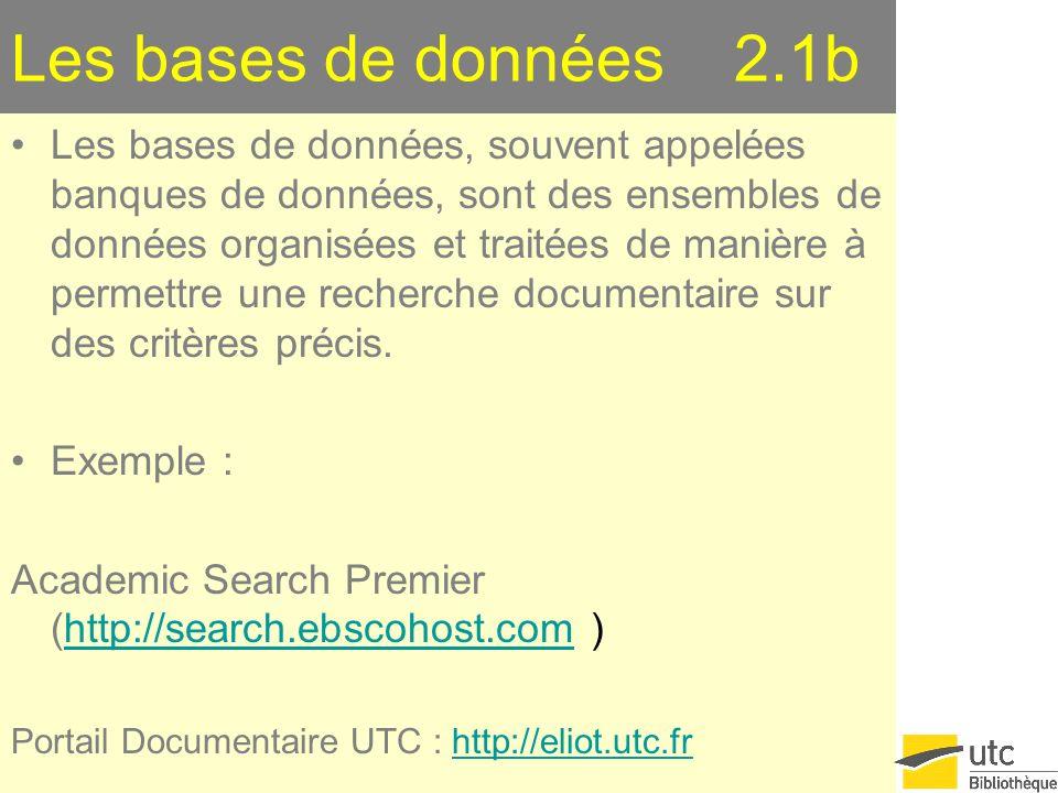 Les bases de données 2.1b