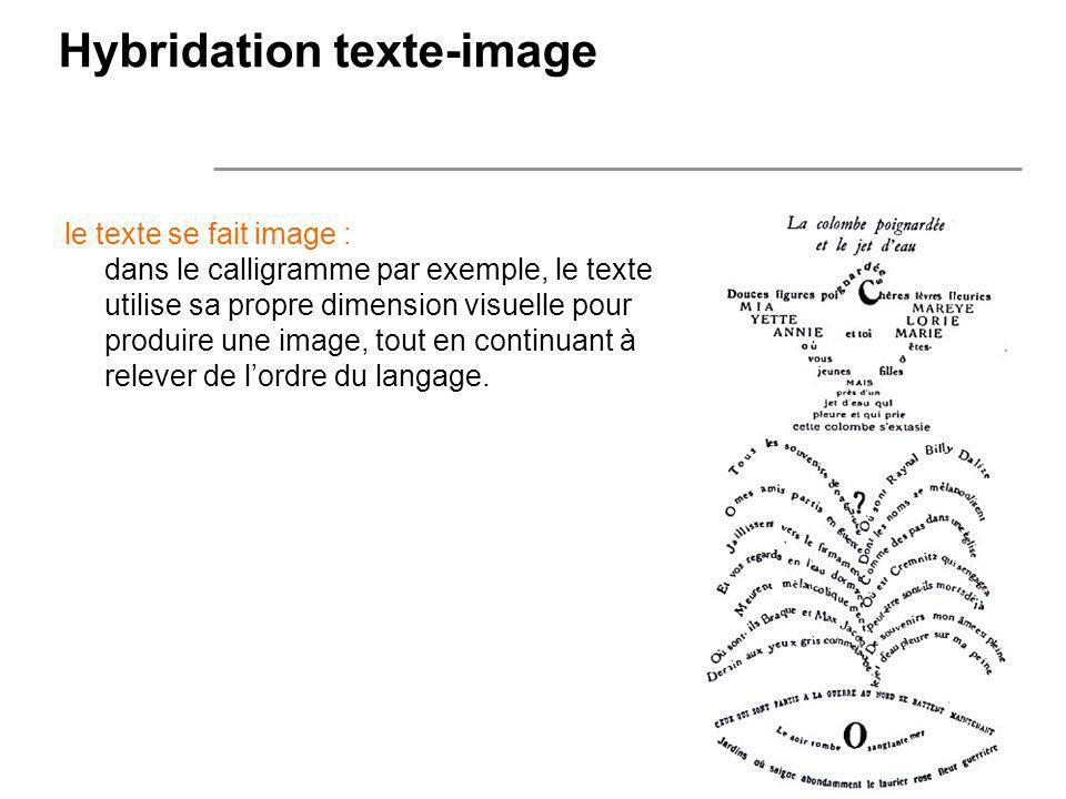 Hybridation texte-image
