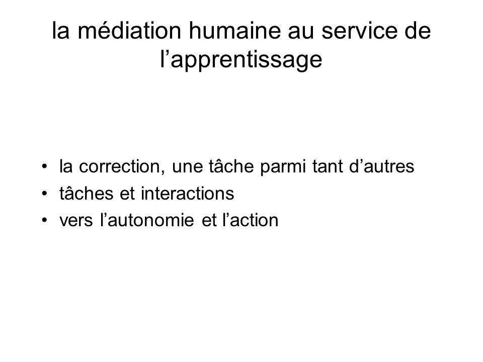 la médiation humaine au service de l'apprentissage