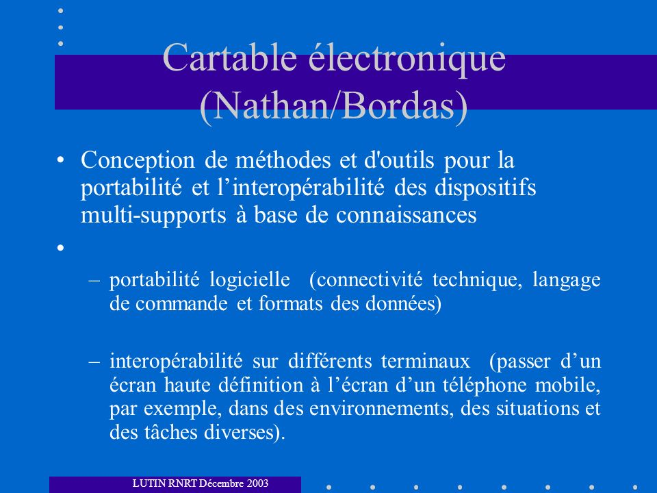 Cartable électronique (Nathan/Bordas)