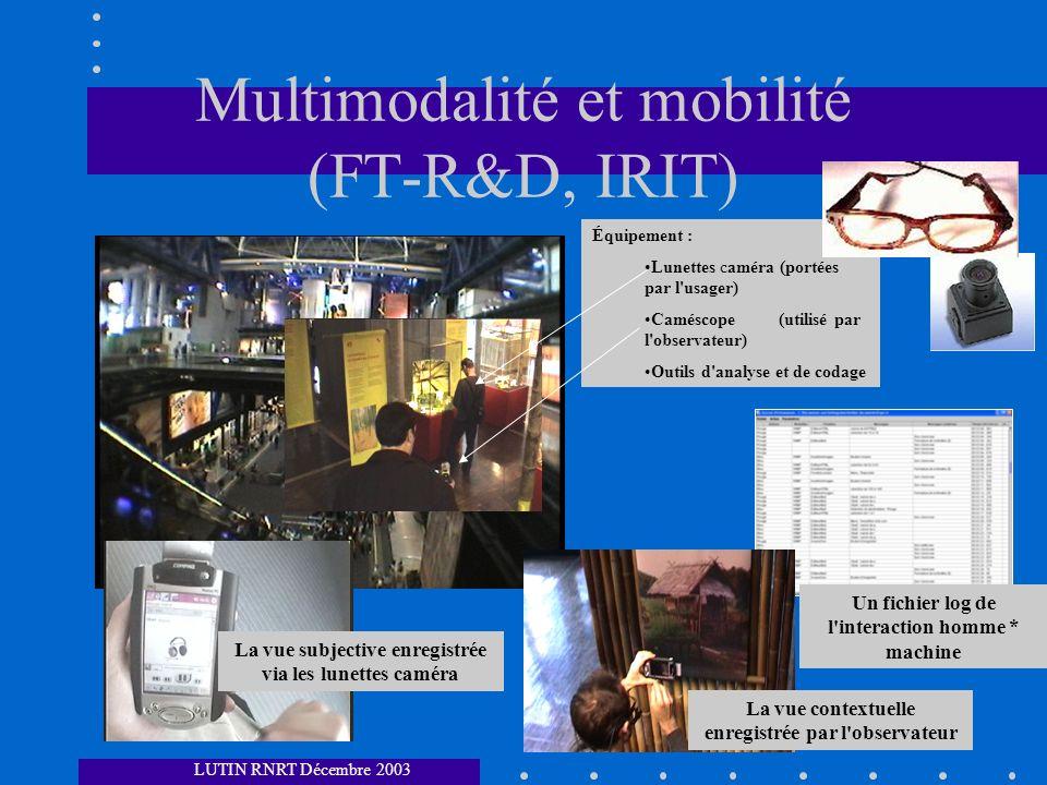 Multimodalité et mobilité (FT-R&D, IRIT)