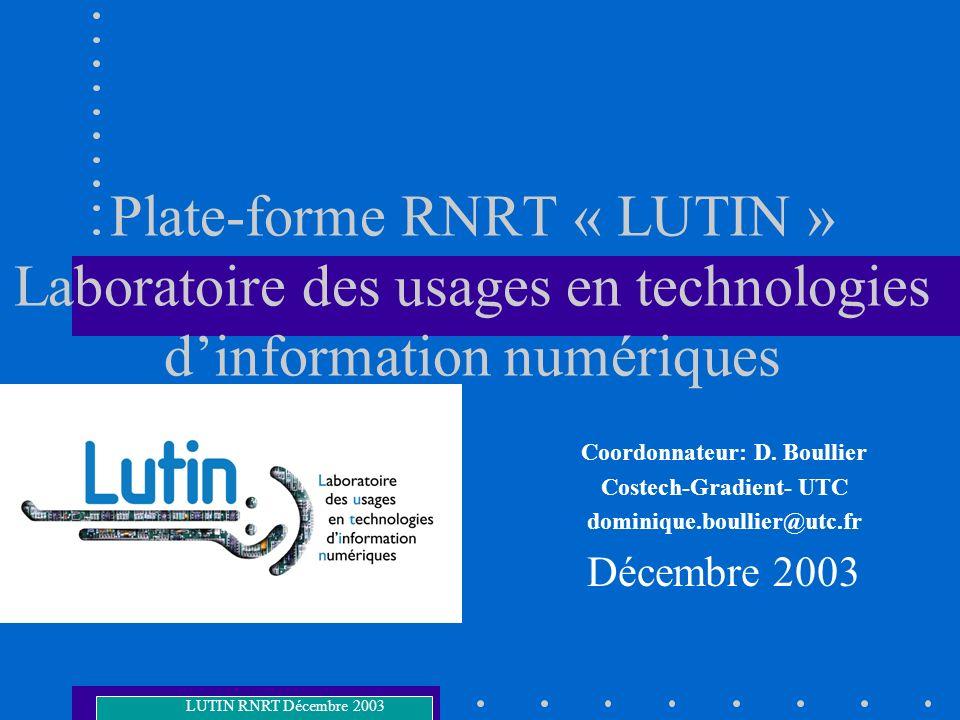 Coordonnateur: D. Boullier Costech-Gradient- UTC