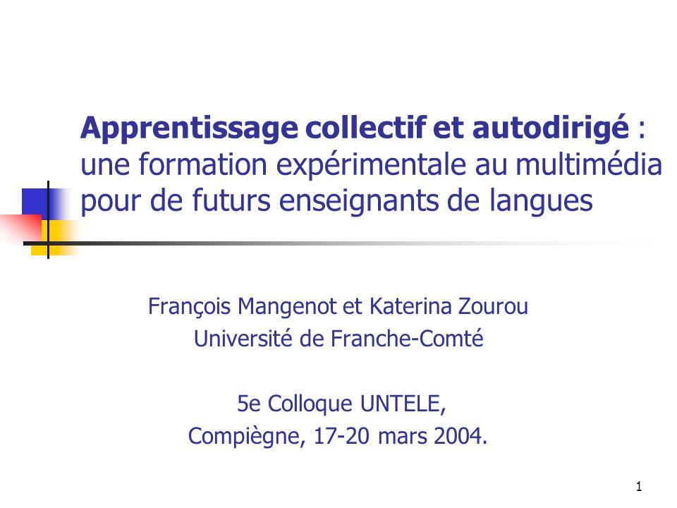 Apprentissage collectif et autodirigé : une formation expérimentale au multimédia pour de futurs enseignants de langues