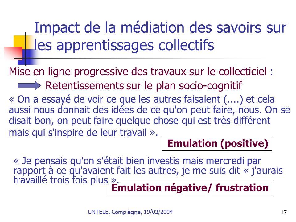 Impact de la médiation des savoirs sur les apprentissages collectifs