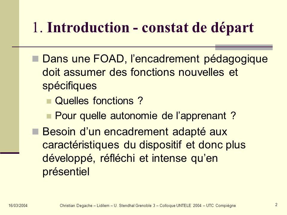 1. Introduction - constat de départ