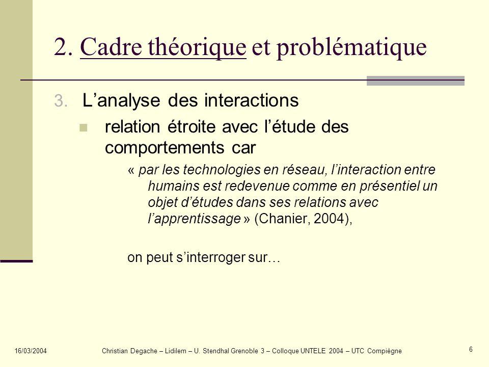 2. Cadre théorique et problématique