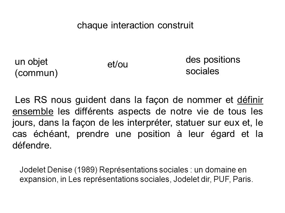 chaque interaction construit